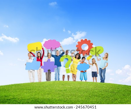 Diversity Casual People Teamwork Social Network Concept - stock photo