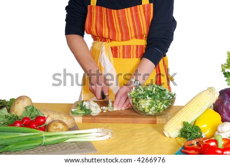 Diversity display of fresh healthy colorful  seasonal vegetables, cutting leek. Nutrition, food  concept