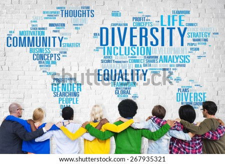 Diversity Ethnicity World Global Community Concept - stock photo