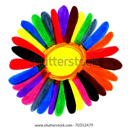 Diversity Flower Differently Colored Petal Representing Harmonious