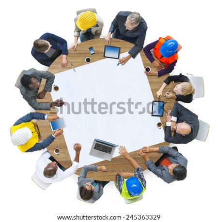 Diversity Group of People Brainstorming Meeting Ideas Concept - stock photo