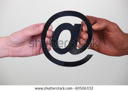 Diversity on Internet - stock photo