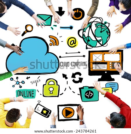 Diversity People Cloud Computing Brainstorming Meeting Concept - stock photo