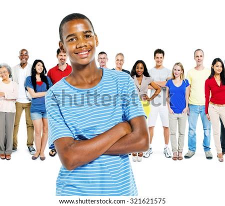 Diversity People Community Crowed Friendship Concept - stock photo