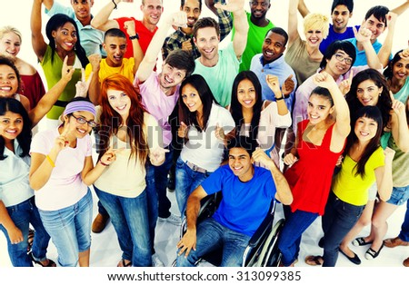 Diversity People Crowd Friends Communication Concept - stock photo