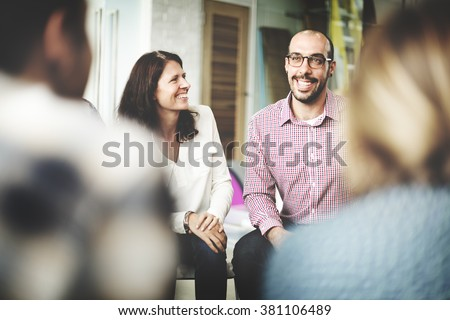 Diversity People Discussion Talking Cheerful Concept - stock photo