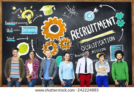 Diversity People Recruitment Search Opportunity Concept - stock photo