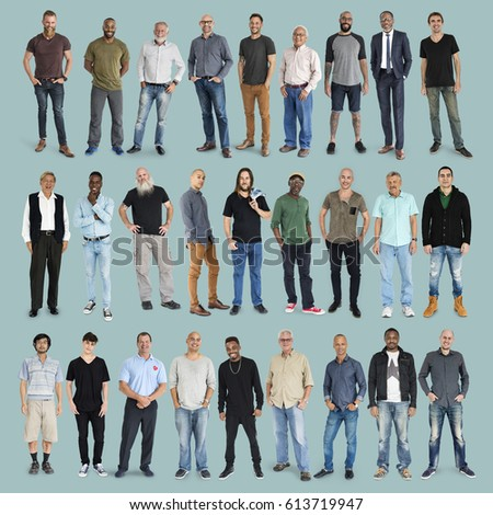 Perfect Diversity People Set Gesture Standing Together Stock Photo (100  LF65