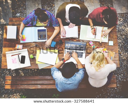 Diversity Teamwork Brainstorming Meeting University Concept - stock photo