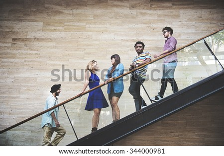 Diversity Teenager Friends Youth Culture Concept - stock photo