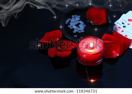 Divination, love spell - stock photo