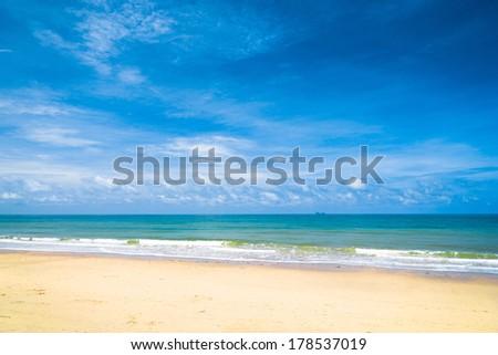Divine Coastline Heavenly Blue  - stock photo