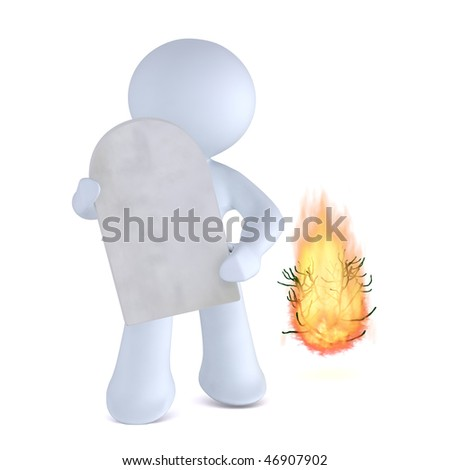 Divine Intervention! Ten commandments - stock photo