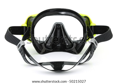 Diving mask on the white background