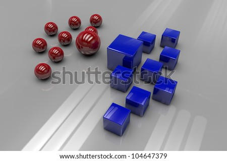 Divisions, groups, and competition - stock photo