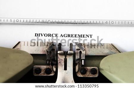 Divorce agreement - stock photo