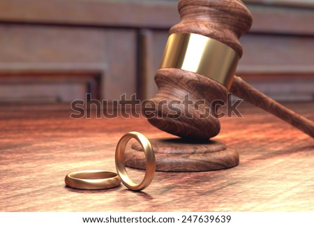 Divorce court case - stock photo