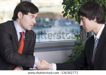 Divorce deal with lawyer - stock photo