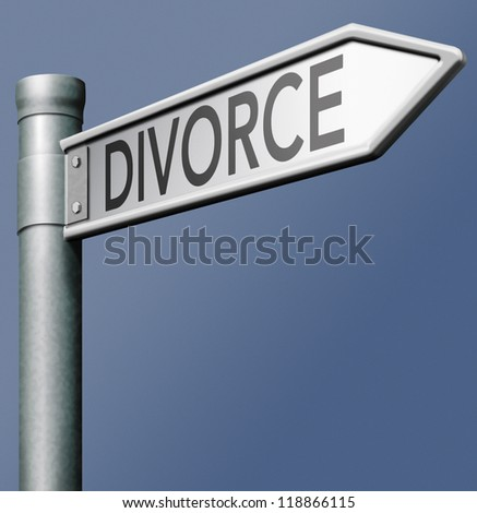 divorce domestic split end broken marriage couple separation start new life - stock photo