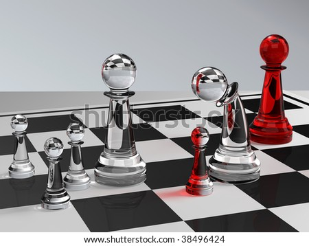 Divorce situation with the chess figures