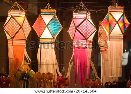 Diwali Decorative Lamps For Sale On Diwali Festival Mumbai Maharashtra India South East Asia