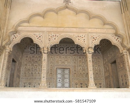 Agra india march 08 2017 marble stock photo 606364751 for Diwan e khas agra fort