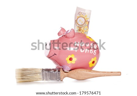 DIY house funds studio cutout - stock photo