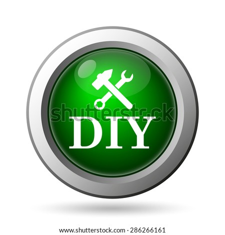 DIY icon. Internet button on white background  - stock photo