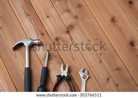 diy tools placed on the wooden table