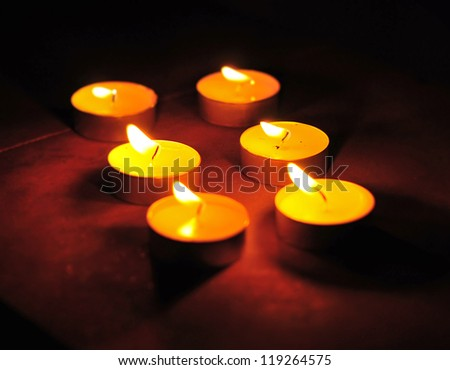 Diyas (Lamps) on Diwali in a formation -2