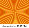 Dizzying spiraling lines in orange and yellow - stock photo