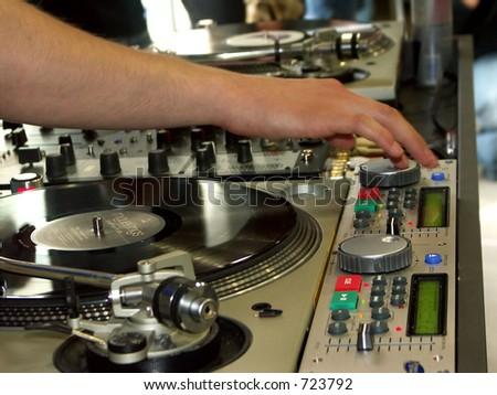 DJ - stock photo