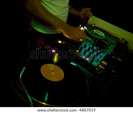 Dj at the club