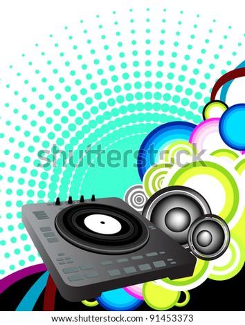 DJ Background - stock photo