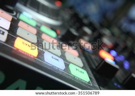 DJ equipment - stock photo