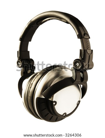 DJ Headphones (+clipping path for easy background removing if needed) - stock photo