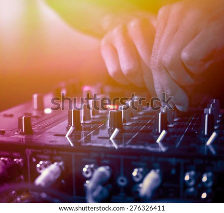 DJ Music night club  - stock photo