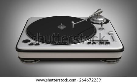 DJ Turntable. High resolution 3d - stock photo