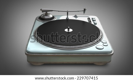 DJ Turntable Isolated. High resolution 3d  - stock photo
