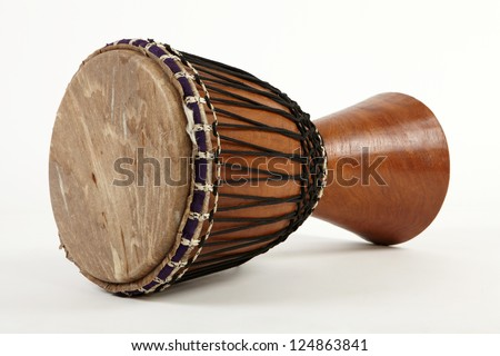 Djembe african traditional percussion - stock photo