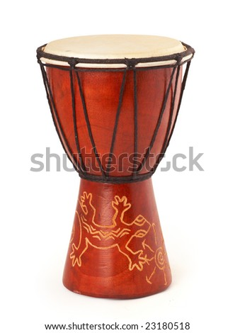 djembe drum isolated on white with clipping path