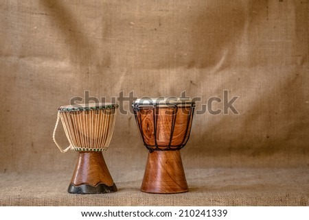 Djembe drums - stock photo