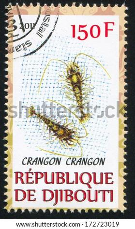 DJIBOUTI - CIRCA 2011: stamp printed by Djibouti, shows Crangon, circa 2011 - stock photo