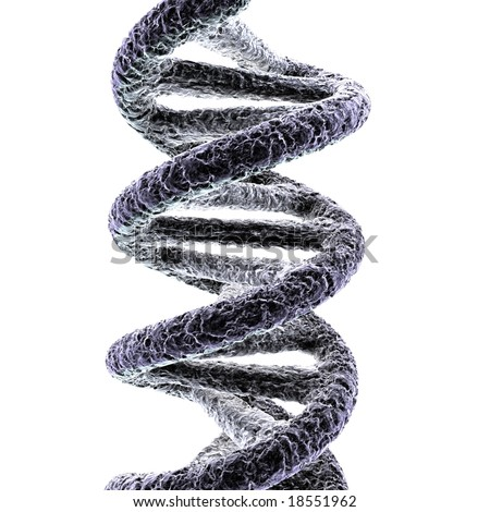 Dna A DNA double helix rendered in high definition. Great for medical presentations and designs. - stock photo