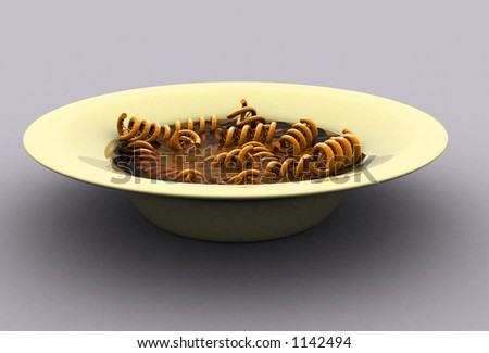 dna as pasta - stock photo