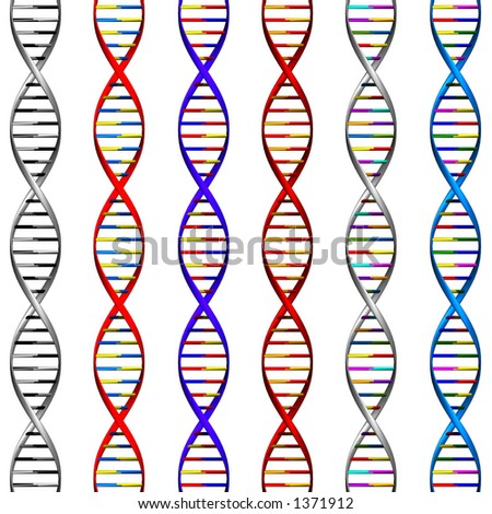 DNA Background (6 Type of colors) - stock photo