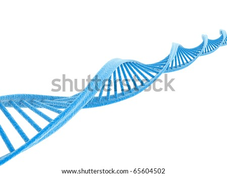 DNA blue isolated on white - stock photo