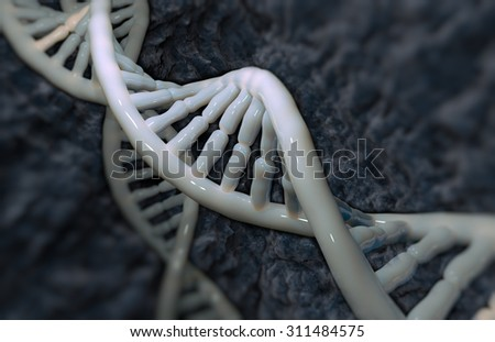 DNA detail background with selective focus. - stock photo