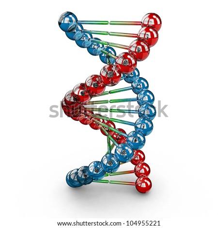 DNA helix. Genetic engineering scientific concept - stock photo