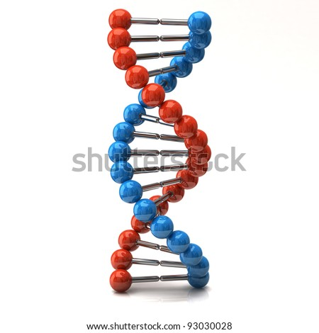 Dna icon on white background - stock photo